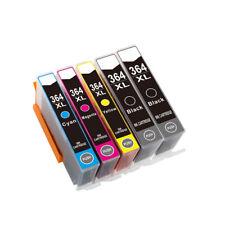 5 Drucker Patronen für HP 364 XL Deskjet 3520 3522 Officejet 4620 4622 mit Chip