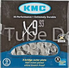 KMC X 9.93 116 Link 9 Speed Stretch Proof Chain Fits Campy, SRAM and Shimano