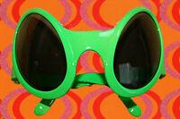 A500✪ Ufo 70er Jahre Kult Sonnenbrille Alien Disco Deep Space neongrün
