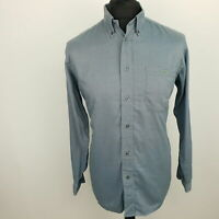 Lacoste Mens Casual Shirt Size 40 MEDIUM Long Sleeve Blue Regular Fit Check