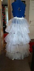 Halloween dress up Victorian Wedding Costume White  Bustle