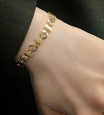 "Women Gold Plated Titanium Stainless Steel Geometric Star Hand Bracelet 6.3-8.3"""