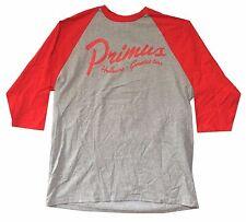 PRIMUS HALLUCINO GENETICS TOUR GREY/RED RAGLAN JERSEY SHIRT XL NEW OFFICIAL LES