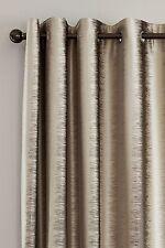 NEXT ODD CURTAIN- LUXE METALLIC IKAT MINK eyelet ONE Curtain 135(W)x183(L)cm
