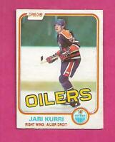 1981-82 OPC # 107 OILERS JARI KURRI ROOKIE VG+ CARD (INV# D7852)