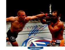 Georges St-Pierre GSP AUTOGRAPHED SIGNED UFC MMA 8x10 photo BAS COA