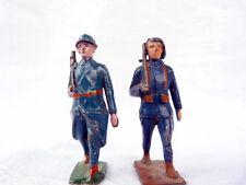 Soldat de plomb creux - 2 français première guerre mondiale à restaurer.