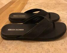 c3774f3676d BEN SHERMAN Mens Luxury Black Stylish Thong Flip Flop Sandals Sz US-12