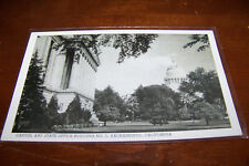 Rare Vintage Postcard Sacramento California Capitol State Office No 1 Trees View