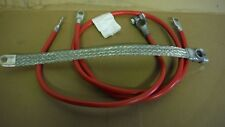 FARMALL  M,  MV, SUPER M & MTA BATTERY CABLE SET. 3 CABLES. #2 GAUGE SEE DETAILS