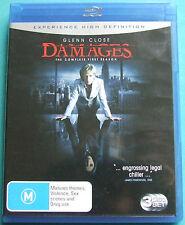 Damages : Season 1 (Blu-ray, 2009, 3-Disc Set)