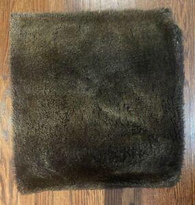 "Restoration Hardware Faux Fur Pillow Cover Brown 22"" x 22"""