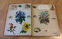 Antique Victorian Scrap Book Die Cuts Trade Cards Chromos