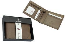 Da Uomo Marrone Portafoglio Pelle liscia con zip sicuro tasca monete & ID finestra 1140