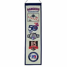 NEW YORK RANGERS 90TH ANNIVERSARY HERITAGE BANNER LEETCH LUNDQVIST MESSIER RARE