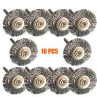 10PC Stainless Steel Wire Brush Set Dremel Tool rotary die grinder removal wheel
