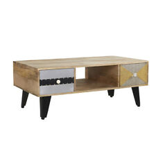 Coffee Table with 2 Drawers and 1 Shelf Ultra Range made from Recycled Wood S09