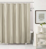 Taupe PEVA  Shower Curtain Liner: Mildew ResistantChlorine FreeOdorlessMagnet