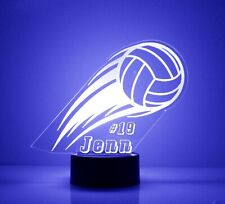 Volleyball LED Acrylic Night Light - Personalize Free, Custom Gift, With remote