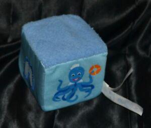 "4"" Baby Einstein Plush Rattle Toys Dolls Die Dye Blue Educational Learning Teach"