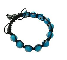 Mens shamballa bracelet Nazar Turkish evil eye amulet hematite beads