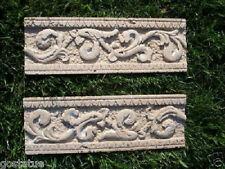 2 plastic trim molds plaster resin wax cement poly plastic molds cast 100's