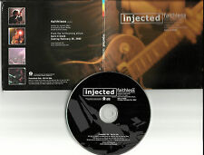 INJECTED Faithless BUTCH WALKER Produced PROMO DJ CD single w/ PRINTED LYRICS