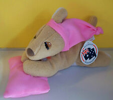 "Australia Souvenirs~11"" Sleepy Puppy Dog Pink Pillow ~Plush Stuffed Animal"