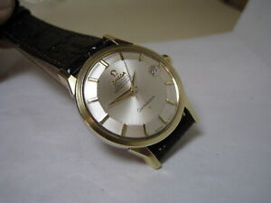 OMEGA COSTELLATION PIE-PAN AUTOMATIC DATE 14k GOLD STAINLESS STEEL 1966 WATCH