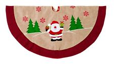 Décorations de Noël sapin de Noël Nappe naturelle jute avec feutre détail