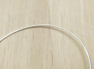 925 QUALITY STERLING SILVER 0.4mm HALF HARD ROUND WIRE FOR JEWELLERY MAKING 3-7