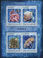SIERRA LEONE 2016 CORALS SHEET MINT NH