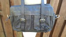 ORIANO Shopper Tote Satchel Shoulder Bag Quality Chocolate Dark Brown Leather