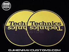 Technics Black & Gold halfmoom Dj Slipmats sl1200's mk5 m3d m5g or any turntable