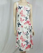 Laura Ashley Special Occasion Silk Butterfly Pleated A Line Dress Size UK 8