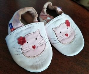 Pink Kitten Soft Leather Mini Shoez Toddler Slippers Girls Sizes 6-12 month NEW