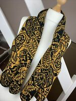 Mustard Yellow Patterned Egyptian Ladies Scarf Quirky Boho Alternative