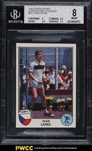 1982 Panini Sport Superstars Stickers Ivan Lendl #317 BGS 8 NM-MT