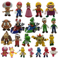 New Gifts Cute Super Mario Bros Luigi Mario Yoshi Wario Bowser Action Figure Toy