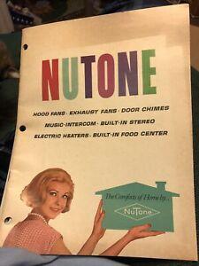 Vintage 60's Nutone  Catalog w/1966 price sheet