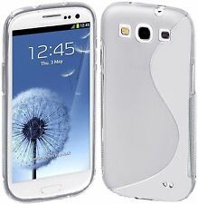 SGS III GRIP S-LINE SOFT SILICONE GEL Clear CASE for Samsung i9300 Galaxy S3