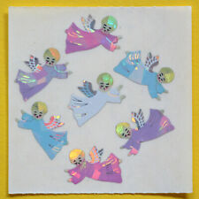 Stickeralbum Sticker von Sandylion Vintage 90er Glitzer Prismatic Schneemänner
