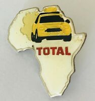 Africa Rally Car Racing Total Petrol Advertising Pin Badge Vintage (C13)