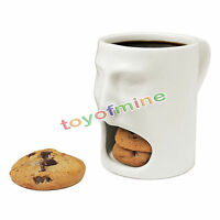 6oz Special Mug Face Mug - Ceramic Cookies Cup Dunk Mug with Biscuit holder