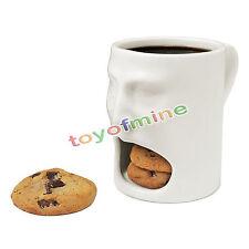 6oz Special Mug Face Mug - Ceramic Cookies Cup Dunk Mug with Biscuit holder