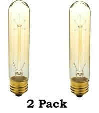 40-Watt T10 E26 Medium Base Vintage Amber Lamp Light Bulbs * 2 Pack *