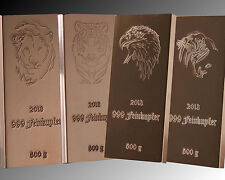 2 kg 999 Kupferbarren 4 x 500 g Tiermotive Löwe Tiger Adler Walross