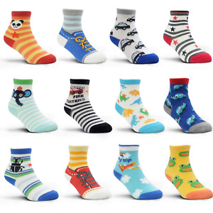 12-36 Months Non Skid Toddler Boy Girl Socks 12 Pairs Infant Baby Grips Socks