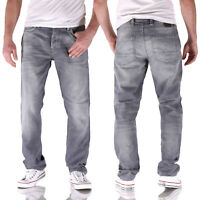 Jack & Jones Tim Leon GE067 Slim Straight Grau  Herren Jogg Jeans
