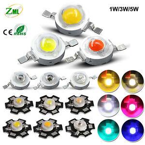 1W 3W 5W SMD COB LED Chip With Star PCB High Power Beads White Light 3.2V-3.4V